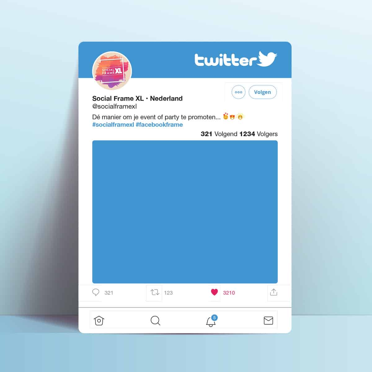 Twitter frame
