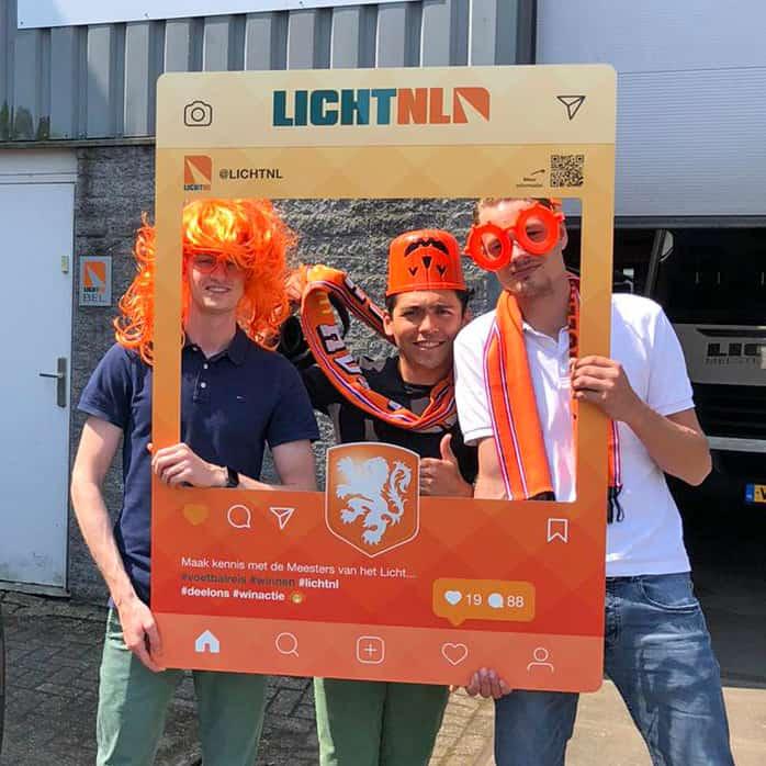 Social Media Frame maken - LichtNL - oranje actie - Bord maken